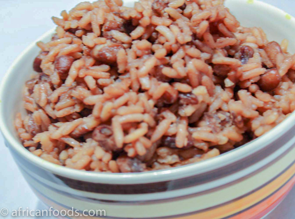 Waakye a rice and beans combo from Ghana