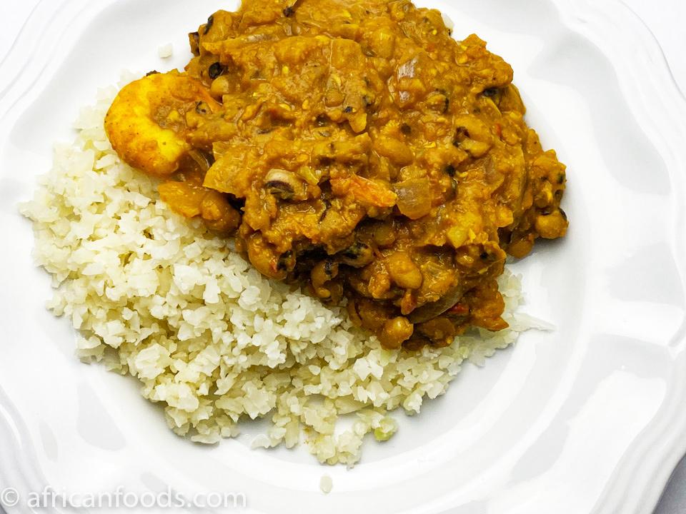 Curry black-eyed peas