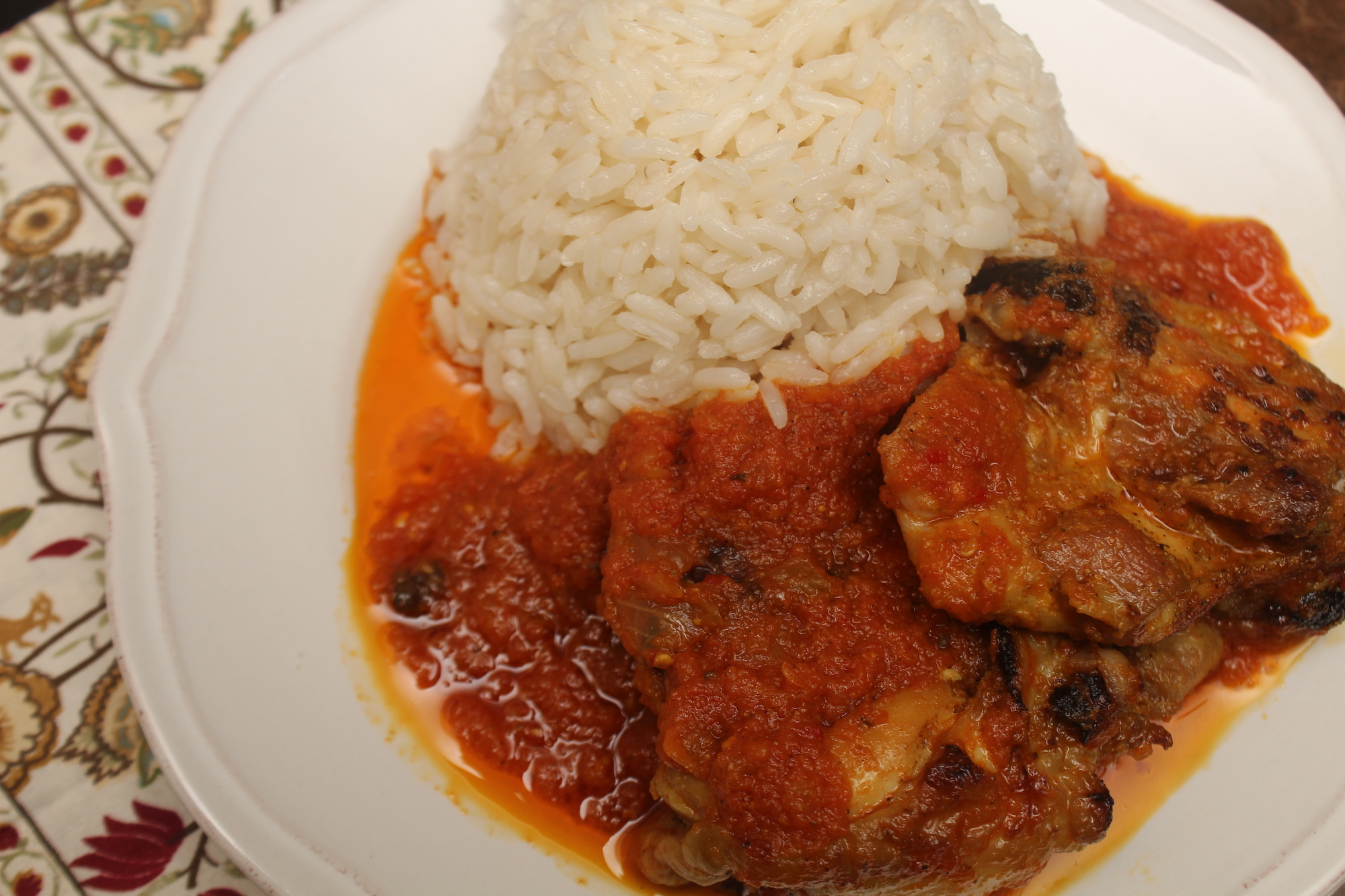 Rice and stew