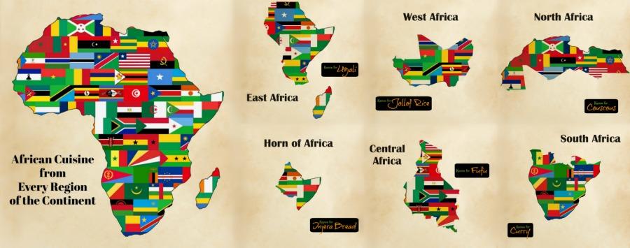 African Cuisine Map