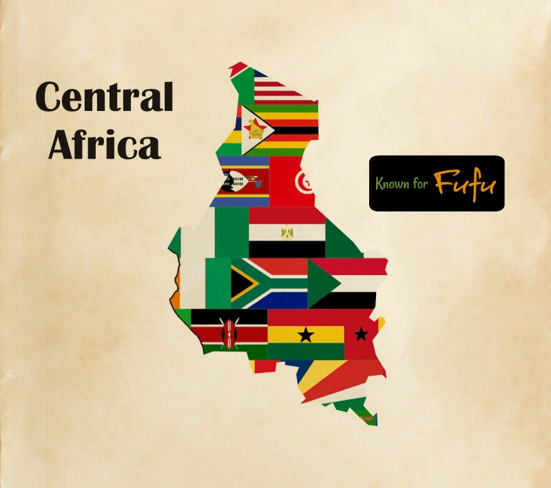 Central Africa Cuisine Map