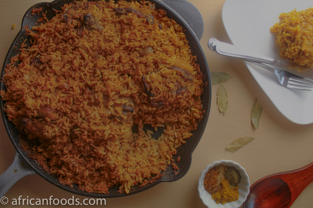Oven baked rice dish