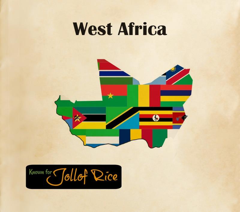 West African Cuisine Map