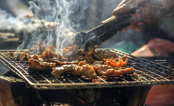 Grilling Meat for an African Meal