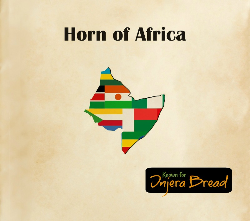 Horn of African Cuisine Map