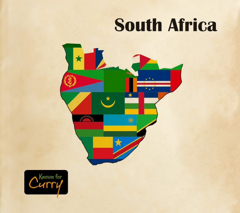 South African Cuisine Map
